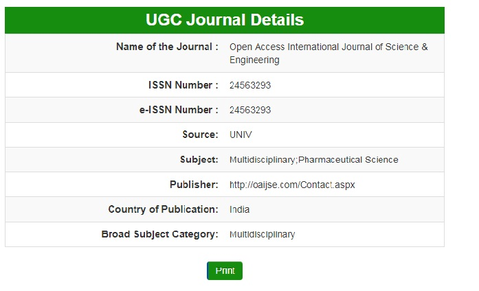 ugc Approved ournal